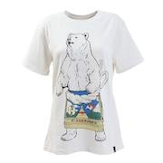 USA/C 天竺 相撲クマSP 半袖Tシャツ 331914 WHT