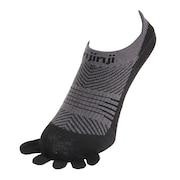 トレッキング 5本指ソックス 靴下 ラン ライトウェイト ノーショウ 26111-BK