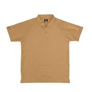 ミリタリーポロ ポロシャツ プライムフレックス ストレッチ 吸汗速乾 肩・背ポケット 2124 BEIGE