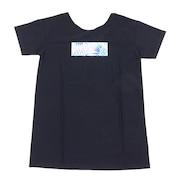 ラッシュ Tシャツ UVカット LEAF WAVE ROXYTシャツ RLY202013BLK