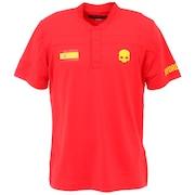 テニスウェア ネイションカップ テック ヘンリ―半袖ポロシャツ T00256 RED M