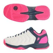 オールコート用 テニスシューズ レディース BASIC DPS113 391 WHT/FLP