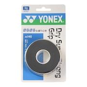 テニスグリップテープ 3本巻 ドライスーパーストロンググリップ AC140 007 BLK