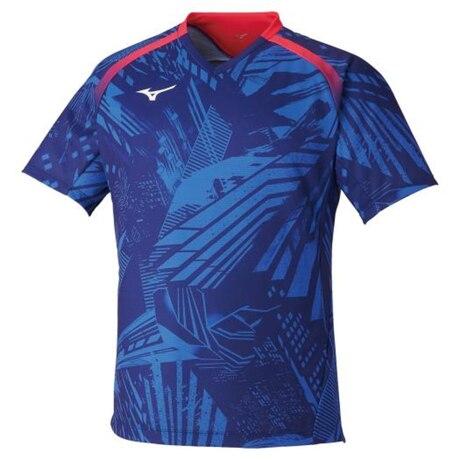 卓球ウエア ゲームシャツ 青 ブルー 82JA000120