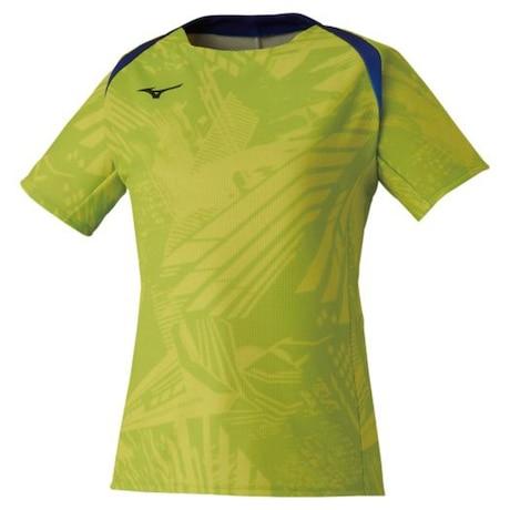 卓球ウエア ゲームシャツ ウィメンズ 黄 イエロー 82JA020137
