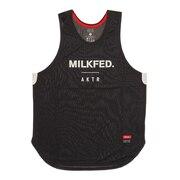 xMILKFED. LOGO タンクトップ 120-069001 BK