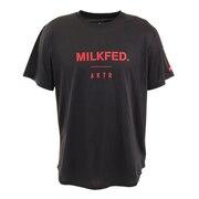 xMILKFED. LOGO SPORTS Tシャツ 120-072005 BK