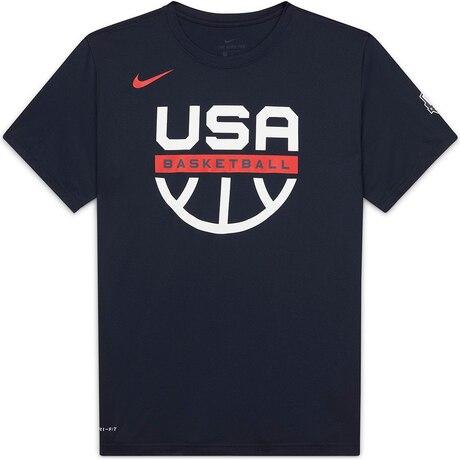 バスケットボール ウェア USA Dri-FIT 半袖Tシャツ アメリカ代表 公式プラクティスグラフィック CT8784-451FA20HP