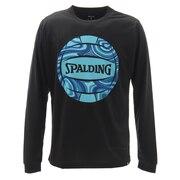 バレーボール ロングスリーブTシャツ ネオンマーブルボール SMT201890BK