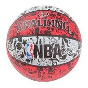 グラフィティ レッド ラバー 7号球 NBAロゴ入り 83-574Z