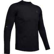コールドギア ラッシュ モックネックシャツ 1348052 BLK/BLK AT