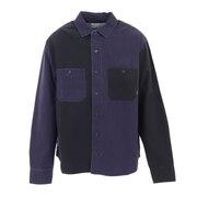 WASHED ロングスリーブボタンダウンシャツ 55100329-NVM