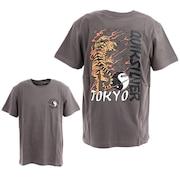 TOKYOOO ST 半袖Tシャツ バックプリント 20SUQST202618TBLK