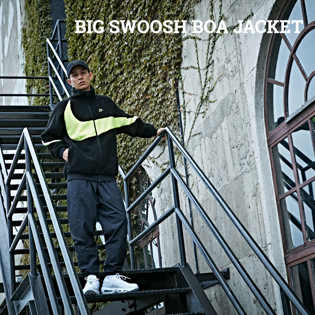 BIG SWOOSH BOA JACKET