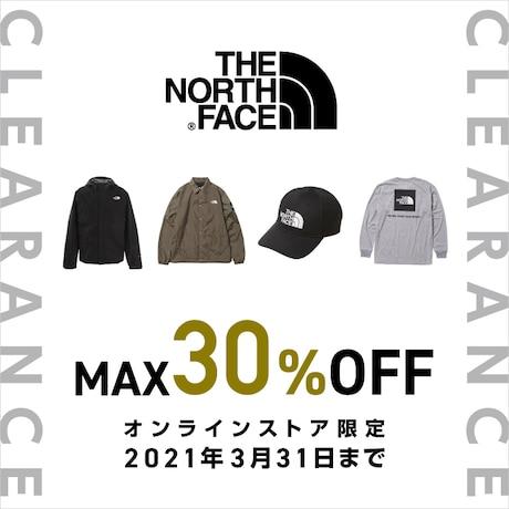 【オンラインストア限定】 THE NORTH FACE クリアランス 対象品MAX30%OFF