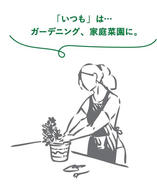 「いつも」は… ガーデニング、家庭菜園に。