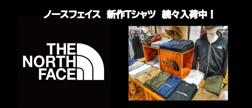 【THE NORTH FAC】新作Tシャツ 続々入荷中!