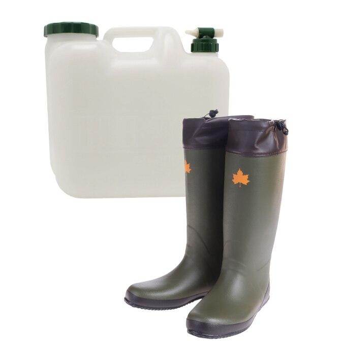 プラテック 水タンク COCK WATER TANK 20L LOGOS コンパクトレインブーツ